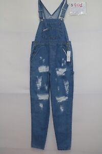 Salopette LONDON & (Code S801) Taille M Jeans D'Occassion Vintage Déchiqueté