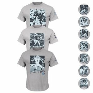 """NFL Majestic Hall of Fame """"Pictorial History"""" Player T-shirt Collection Men's"""