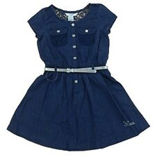 Guess Kids Dress Little Girls Tiered Denim Dress Dark Stone Size 2T 3T MyAFC