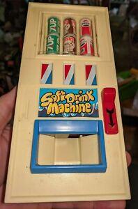 Pepsi 7up Toy Vending Machine Vintage 1980 Soft Drink Machine plastic