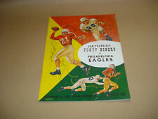 S.F. FORTY NINERS VS PHILADELPHIA EAGLES ~ GAME DAY PROGRAM ~ SEPTEMBER 27,1953
