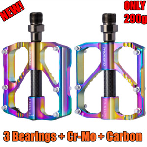 PROMEND Carbon Tube Aluminum MTB Road Bike Pedal BMX Bicycle Pedal 3 Bearings