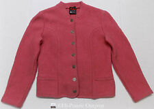 Arber Strickmoden German Boiled Wool Pink Coat Womens Size 42 US 12