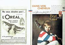 PUBLICITE ADVERTISING 026  1964  L'Oréal  Régé Color Jeunesse (2p) Ronnie Burns