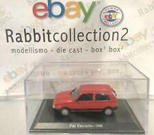 "DIE CAST "" FIAT UNO TURBO - 1988 "" + TECA RIGIDA BOX 2 SCALA 1/43"