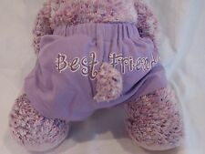 "Build A Bear Purple Teddy Bear + Best Friends Outfit + Ribbon 16"" Plush Doll"