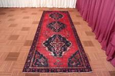 4x12 Vintage Traditional Hand Knotted Wool Runner Area Rug