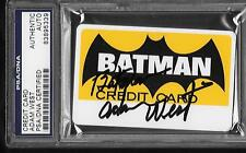 "ADAM WEST AUTO SIGNED 1966 BATMAN CREDIT CARD PSA DNA ""BATMAN"" INSCRIPTION"