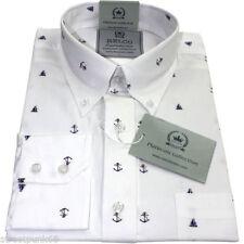 Camicie casual e maglie da uomo bianche con button down