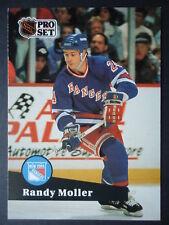 NHL 163 Randy Moller New York Rangers Pro Set 1991/92