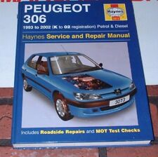 HAYNES MANUAL FOR PEUGEOT 306. 1993 TO 2002. K TO '02 REGISTRATION.