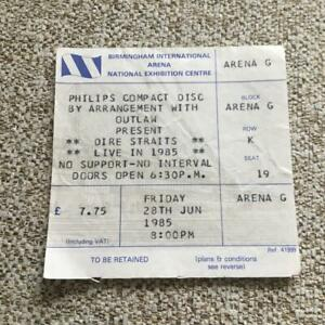Dire Straits ticket NEC Birmingham 28/06/85 #K19
