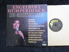 ENGELBERT HUMPERDINCK, His Greatest Hits USA LP Release Me/The Last Waltz