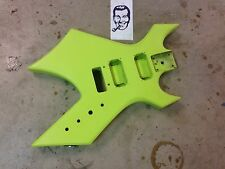 80's BC Rich NJ Series Warlock Lime Green Electric Guitar Body