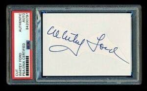 WHITEY FORD SIGNED MINT CUT PSA/DNA AUTOGRAPHED NEW YORK YANKEES 6xWSC CY YOUNG
