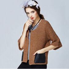 Waist Length Cotton Blend Collarless Tops & Shirts for Women