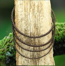 Lederhals/-Armband Lederkette geflochten Edelstahl-Verschluss 18-70cm, 4 Stärken