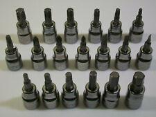 NEW HUSKY 19pc Hex/Screwdriver/Torx Ratchet Socket Wrench Bit Set