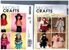 """2 McCall s OOP PATTERNS M5288 & 7934 Doll Clothes Fits 18"""" American Girl Betsy"""
