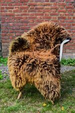 Sheepskin Teddy Bear Brown Large!!! Sheepskin Rug 100% Sheepskin