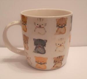 "Lovely ""Dotty Kittens"", Cats Bone China Cat Mug, boxed, NEW"