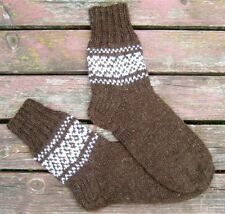 Russian Men's Wool Socks Hand Knitted Handmade #1