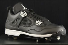 NIKE AIR JORDAN IV RETRO METAL 4 BLACK TECH GREY CLEATS 807710-010 SIZE 8.5