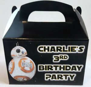 Personalised Star Wars BB8 cake / party boxes