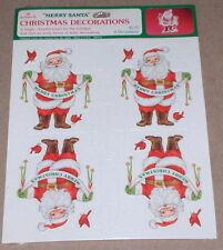 "1982 Hallmark ""Merry Santa"" Stand Up Figure / Christmas Table Decorations NIP"