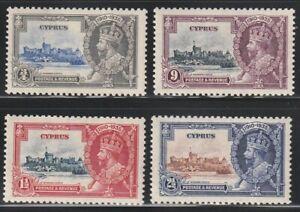 Cyprus.   1935   Sc # 136-39   Silver Jubilee   MLH   OG   (4012-1)