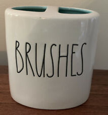 Rae Dunn BRUSHES Toothbrush Holder AQUA Interior LL