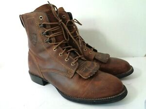ARIAT WMNs 8M Heritage Lacer ll Distressed Brown Leather Roper Lace up Boots