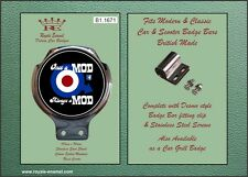 Royale Scooter Car Bar Badge - ONCE A MOD ALWAYS A MOD ON FACEBOOK - B1.1671