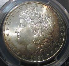 1881-S Morgan Silver Dollar PCGS MS-64 Spectacular Rainbow Toning
