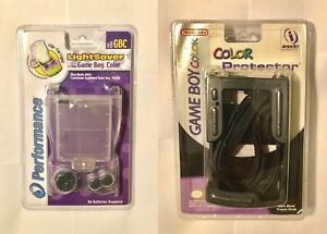 NEW NINTENDO GAME BOY COLOR INTERACT PROTECTOR CASE BLACK & LED LIGHTSAVER