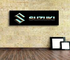 Suzuki Sign Vinyl Banner Flag  Garage Workshop Adversting Many Size