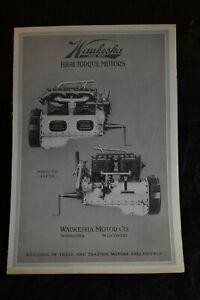 Ca 1920 Waukesha High Torque Motors Model C. U. Brochure