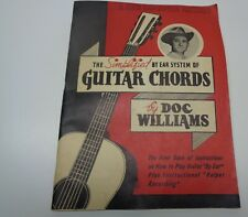 Vintage Doc Williams Guitar Chords Manual - Used