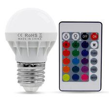 3W E27 RGB LED Birne Farbwechsel Glühlampe Glühbirne Licht mit Fernbedienung Neu