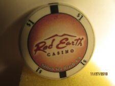 New listing Red Earth Casino-Salton Sea Beach-Ca - $ 1 Casino chip- mint