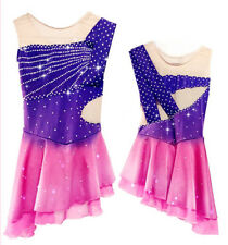 Gorgeous Ice Figure Skating Dress Baton Twirling Dance Dress competition p430