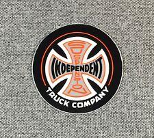 Independent Truck Suspension Skateboard Sticker SMALL 1.5in orange/black si