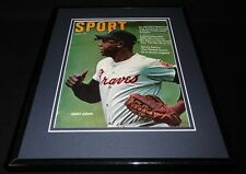 Hank Aaron 11x14 Framed ORIGINAL 1970 Sport Magazine Cover Braves