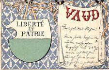 21856/ Litho, Wappen Karte, Schweiz, Vaud, ca. 1900