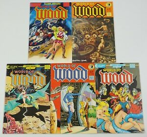 World of Wood #1-5 VF/NM complete series - wally wood - dave stevens 2 3 4 set