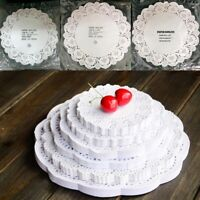 BE_ 100X Round Paper Lace Doilies Cake Placemat Party Wedding Baking Decor