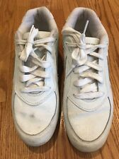 CONVERSE ALL WHITE LEATHER Walking Sneakers Fashion Athletic Shoes Mens Sz 10 #