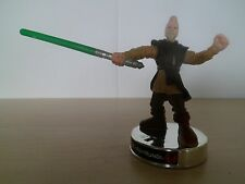 "Attacktix Figura De Star Wars ""Ki Adi Mundi Plata"" - VHTF Y Sable De Luz"