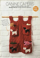 KNITTING PATTERN Canine Pet Storage Organiser Scottie Dog Motif Pets PATTERN