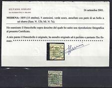 713# Modena Mi 7c° / Sassone 12b tadellos / perfetto, mit Befund Silvano Sorani